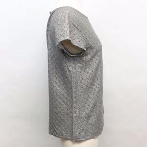 Ann Taylor Factory Tops - 🌈 loft | poof sleeve eyelet top sz SP